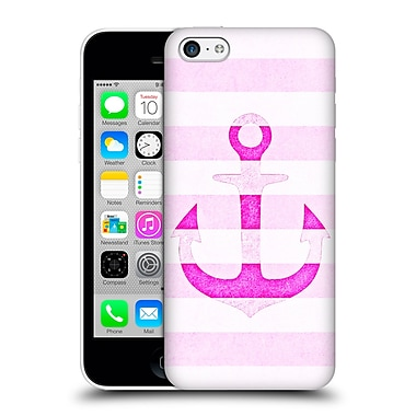 Official Monika Strigel Vintage Anchors Neon Pink Hard Back Case For Apple Iphone 5C