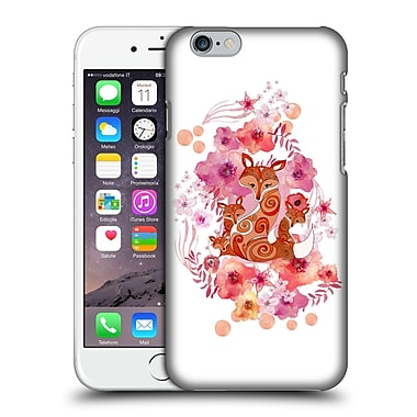 Official Monika Strigel Animals And Flowers Fox Family Hard Back Case For Apple Iphone 6 / 6S