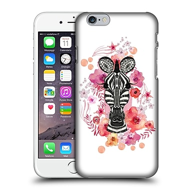 Official Monika Strigel Animals And Flowers Zebra Hard Back Case For Apple Iphone 6 / 6S
