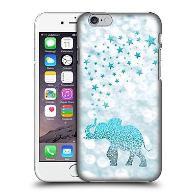Official Monika Strigel Champagne Glitters 1 Happy Elephant Aqua Hard Back Case For Apple Iphone 6 / 6S