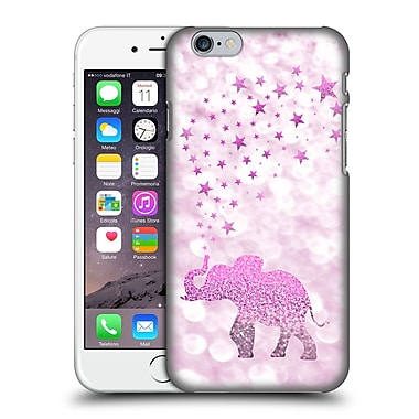 Official Monika Strigel Champagne Glitters 1 Happy Elephant Pink Hard Back Case For Apple Iphone 6 / 6S