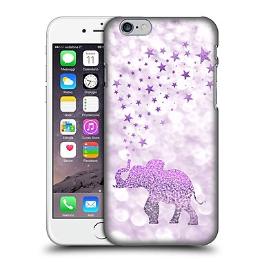 Official Monika Strigel Champagne Glitters 1 Happy Elephant Purple Hard Back Case For Apple Iphone 6 / 6S