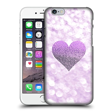 Official Monika Strigel Champagne Glitters 2 Heart Purple Hard Back Case For Apple Iphone 6 / 6S