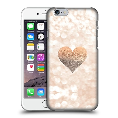 Official Monika Strigel Champagne Gold Heart Hard Back Case For Apple Iphone 6 / 6S