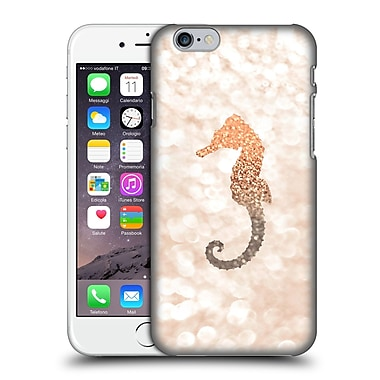 Official Monika Strigel Champagne Gold Seahorse Hard Back Case For Apple Iphone 6 / 6S