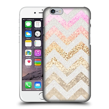 Official Monika Strigel Funky Chevron Gold Pink Hard Back Case For Apple Iphone 6 / 6S