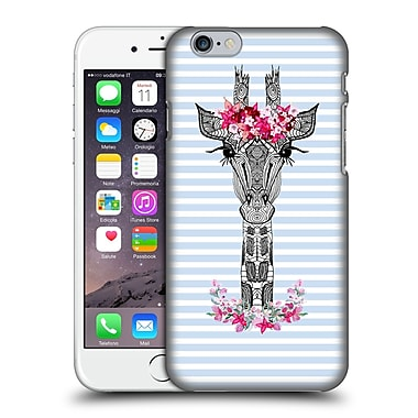 Official Monika Strigel Flower Giraffe And Stripes Blue Hard Back Case For Apple Iphone 6 / 6S