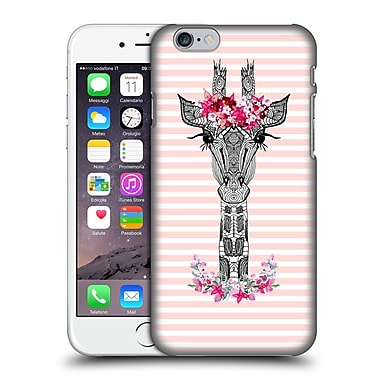 Official Monika Strigel Flower Giraffe And Stripes Coral Hard Back Case For Apple Iphone 6 / 6S