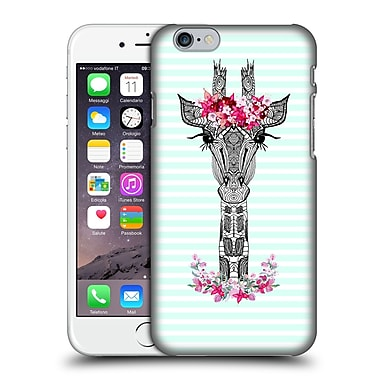 Official Monika Strigel Flower Giraffe And Stripes Mint Hard Back Case For Apple Iphone 6 / 6S