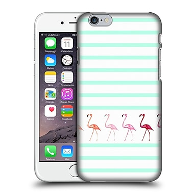 Official Monika Strigel Flamingos And Stripes Mint Hard Back Case For Apple Iphone 6 / 6S