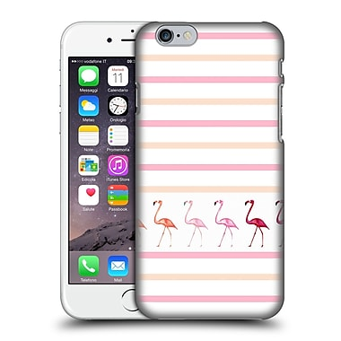 Official Monika Strigel Flamingos And Stripes Pink Duo Hard Back Case For Apple Iphone 6 / 6S