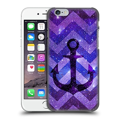 Official Monika Strigel Galaxy Anchors Purple Hard Back Case For Apple Iphone 6 / 6S