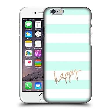Official Monika Strigel Gold And Happy Stripes Hard Back Case For Apple Iphone 6 / 6S