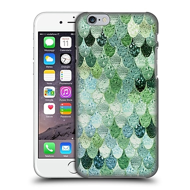 Official Monika Strigel Happy Mermaid Green And Mint Hard Back Case For Apple Iphone 6 / 6S
