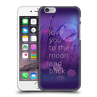 Official Monika Strigel Love Quote Purple Hard Back Case For Apple Iphone 6 / 6S