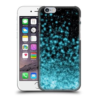 Official Monika Strigel Magic Lights Black Aqua Hard Back Case For Apple Iphone 6 / 6S
