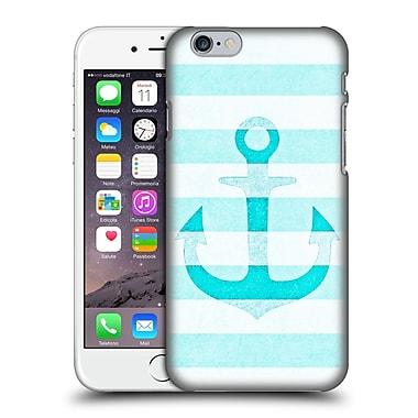 Official Monika Strigel Vintage Anchors Aqua Hard Back Case For Apple Iphone 6 / 6S