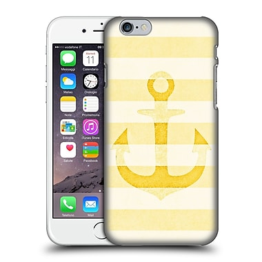 Official Monika Strigel Vintage Anchors Yellow Hard Back Case For Apple Iphone 6 / 6S