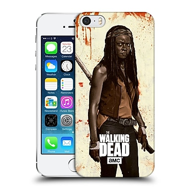 Official Amc The Walking Dead Distressed Illustrations Michonne Hard Back Case For Apple Iphone 5 / 5S / Se