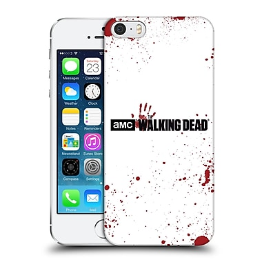 Official Amc The Walking Dead Logo Blood White Hard Back Case For Apple Iphone 5 / 5S / Se