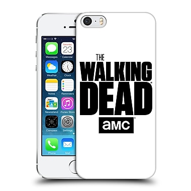 Official Amc The Walking Dead Logo White Hard Back Case For Apple Iphone 5 / 5S / Se