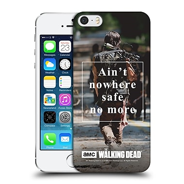 Official Amc The Walking Dead Quotes Daryl Nowhere Safe Hard Back Case For Apple Iphone 5 / 5S / Se