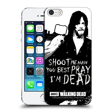 Official Amc The Walking Dead Quotes Daryl Shoot Hard Back Case For Apple Iphone 5 / 5S / Se