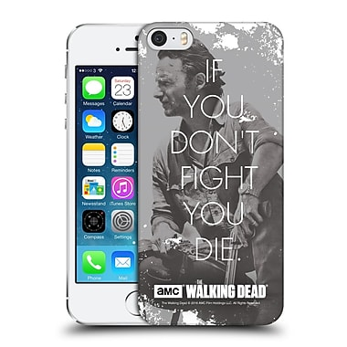 Official Amc The Walking Dead Quotes Rick Fight Hard Back Case For Apple Iphone 5 / 5S / Se