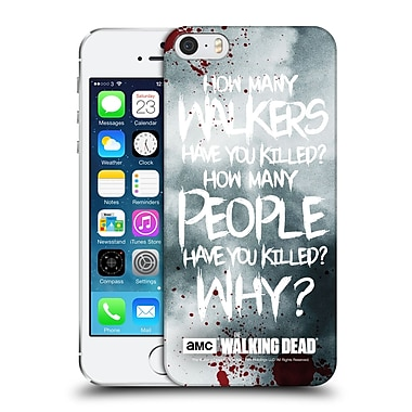 Official Amc The Walking Dead Quotes Rick Questions Hard Back Case For Apple Iphone 5 / 5S / Se