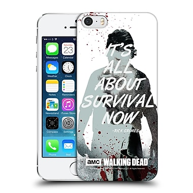 Official Amc The Walking Dead Quotes Rick Survival Hard Back Case For Apple Iphone 5 / 5S / Se