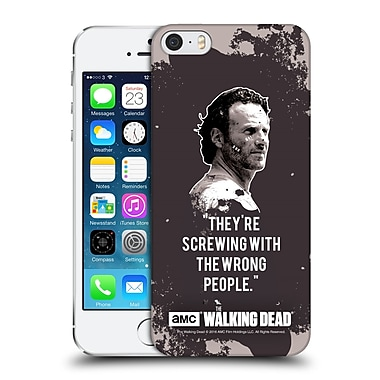 Official Amc The Walking Dead Quotes Rick Trap Hard Back Case For Apple Iphone 5 / 5S / Se
