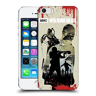 Official Amc The Walking Dead Silhouettes Daryl Full Hard Back Case For Apple Iphone 5 / 5S / Se