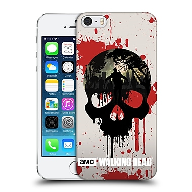 Official Amc The Walking Dead Silhouettes Skull Hard Back Case For Apple Iphone 5 / 5S / Se