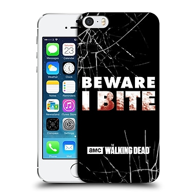 Official Amc The Walking Dead Typography I Bite Hard Back Case For Apple Iphone 5 / 5S / Se