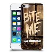 Official Amc The Walking Dead Typography Bite Me Hard Back Case For Apple Iphone 5 / 5S / Se