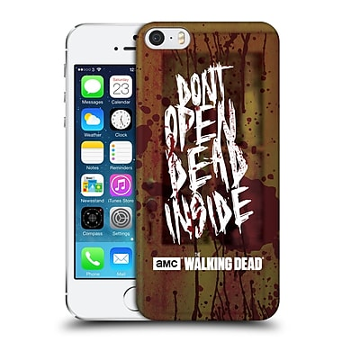 Official Amc The Walking Dead Typography Do Not Open Hard Back Case For Apple Iphone 5 / 5S / Se