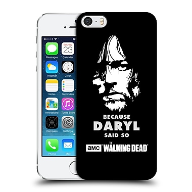 Official Amc The Walking Dead Typography Daryl Says Hard Back Case For Apple Iphone 5 / 5S / Se