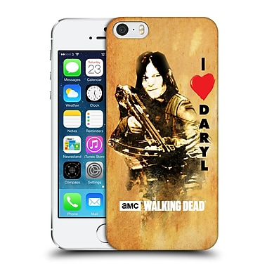 Official Amc The Walking Dead Typography Love Daryl Crossbow Hard Back Case For Apple Iphone 5 / 5S / Se