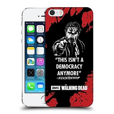 Official Amc The Walking Dead Typography Ricktatorship Hard Back Case For Apple Iphone 5 / 5S / Se