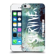 Official Amc The Walking Dead Typography Survive Torned Glass Hard Back Case For Apple Iphone 5 / 5S / Se