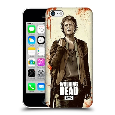 Official Amc The Walking Dead Distressed Illustrations Carol Hard Back Case For Apple Iphone 5C
