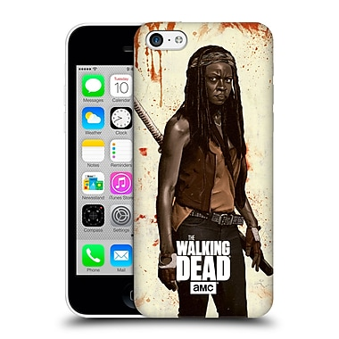 Official Amc The Walking Dead Distressed Illustrations Michonne Hard Back Case For Apple Iphone 5C