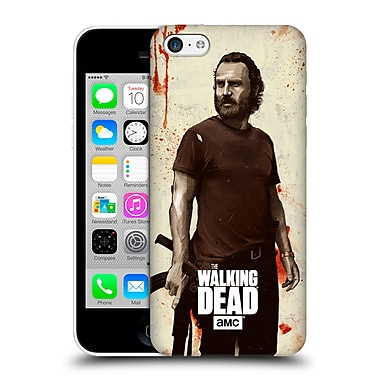 Official Amc The Walking Dead Distressed Illustrations Rick Hard Back Case For Apple Iphone 5C