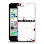 Official Amc The Walking Dead Logo Blood White Hard Back Case For Apple Iphone 5C