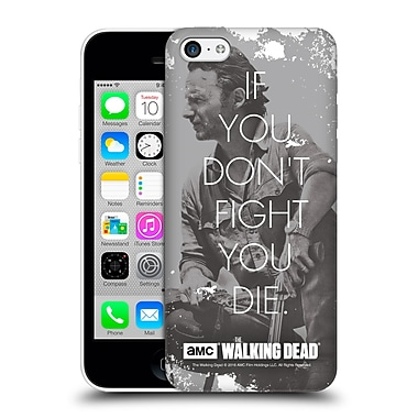 Official Amc The Walking Dead Quotes Rick Fight Hard Back Case For Apple Iphone 5C