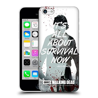 Official Amc The Walking Dead Quotes Rick Survival Hard Back Case For Apple Iphone 5C