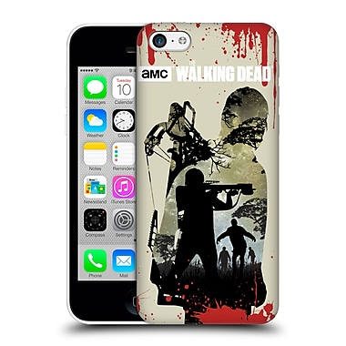 Official Amc The Walking Dead Silhouettes Daryl Full Hard Back Case For Apple Iphone 5C