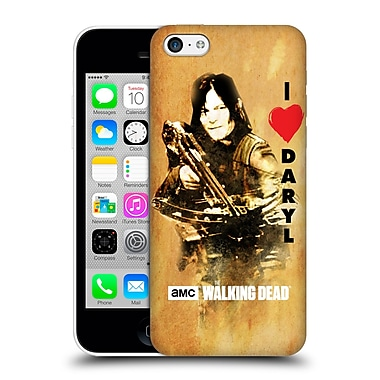 Official Amc The Walking Dead Typography Love Daryl Crossbow Hard Back Case For Apple Iphone 5C