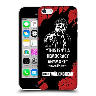Official Amc The Walking Dead Typography Ricktatorship Hard Back Case For Apple Iphone 5C