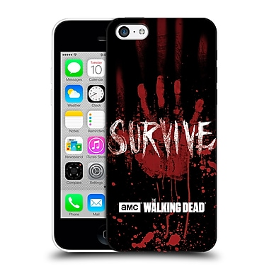 Official Amc The Walking Dead Typography Survive Hand Hard Back Case For Apple Iphone 5C